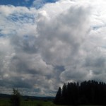 Billowing White Clouds in Norway