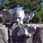 Pipe Statue Head Closeup