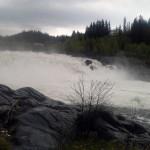 Laksforsen Waterfall in Norway