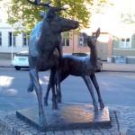 Reindeer Statue in Norway