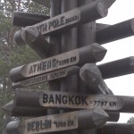 Sign Post to North Pole