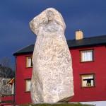 Stone Statue in Honningsvag Norway