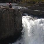 Troll by waterfall