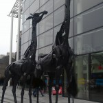 tall giraffe statues